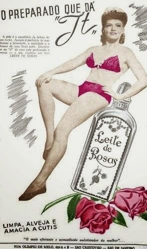Propaganda dos anos 50 do Leite de Rosas.