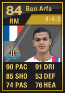 Hatem Ben Arfa (IF2) 84 - FIFA 12 Ultimate Team Card
