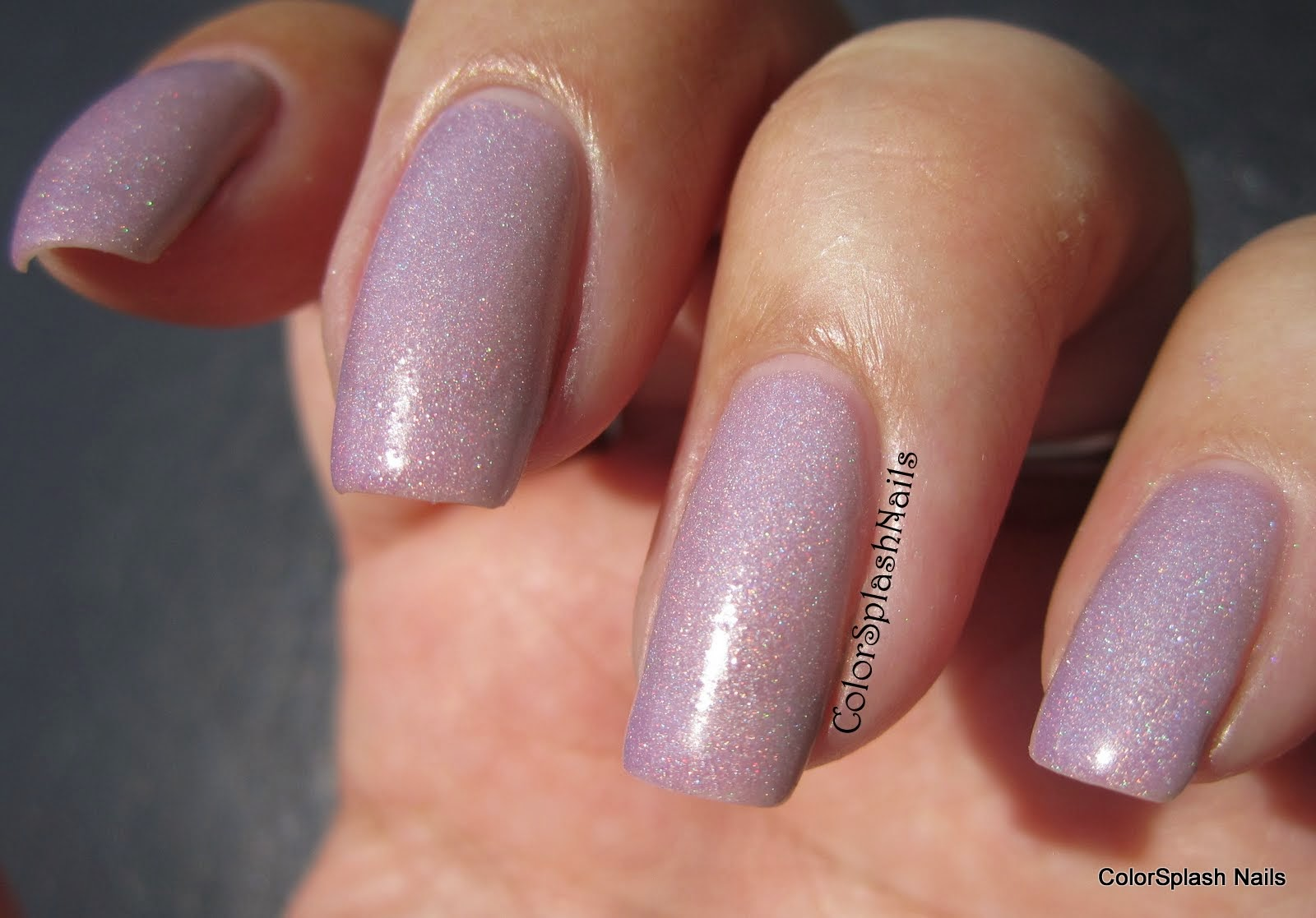 Glitter Solar Nails Solar plum applied smoothly in