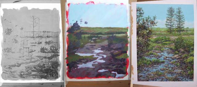 WIP New Forest countryside art
