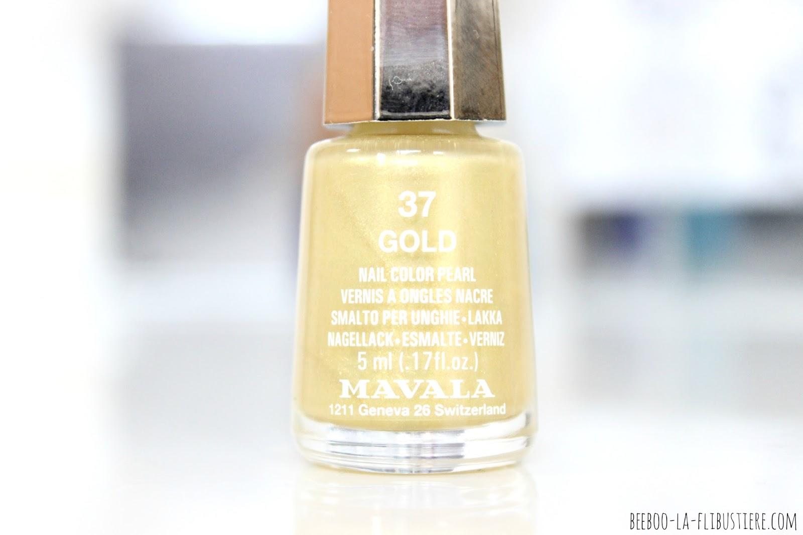 vernis n°37 gold mavala