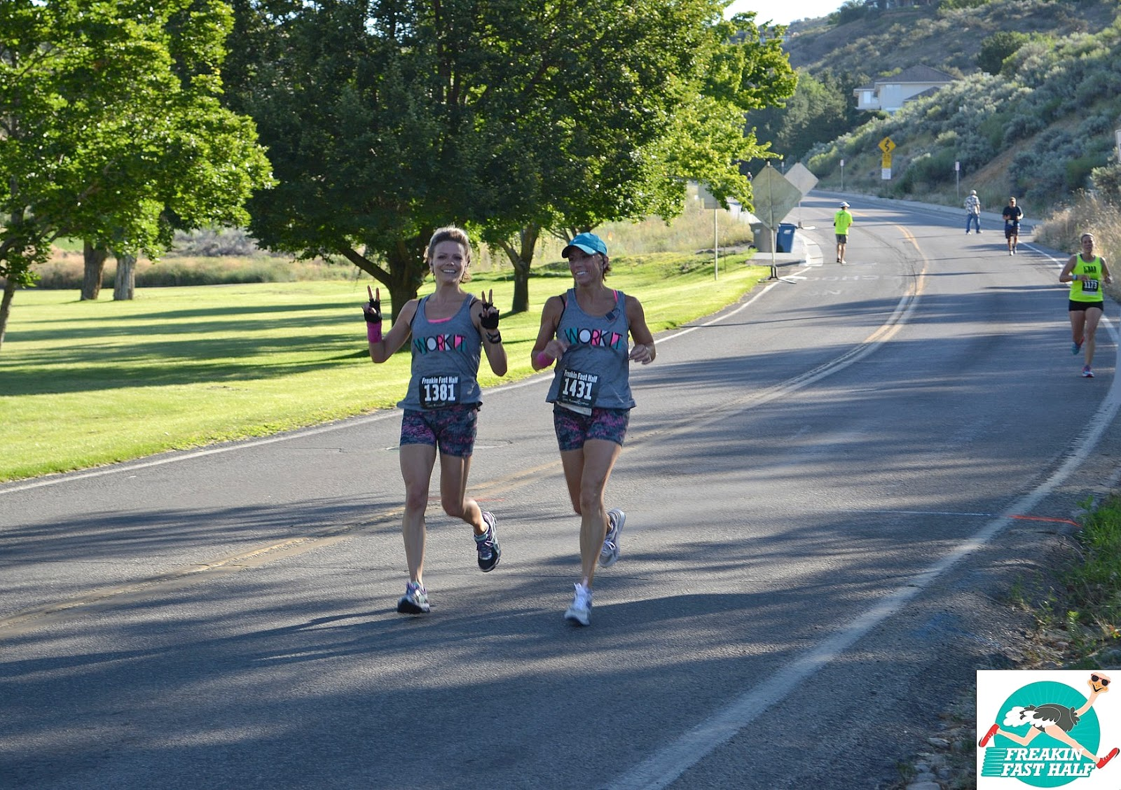 Freakin' Fast Half Marathon, Boise Runner, Downhill Half Marathon, Mom and Daughter Running Together