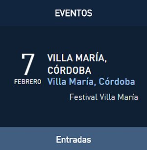 David Bisbal Gira Tú y Yo en Argentina, Festival de Villa María, Córdoba