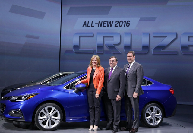 General Motors Reveals The New 2016 Chevy Cruze