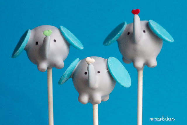 These elephant cake pops are the cutest! All the kids loved then and they were perfect for a baby shower!