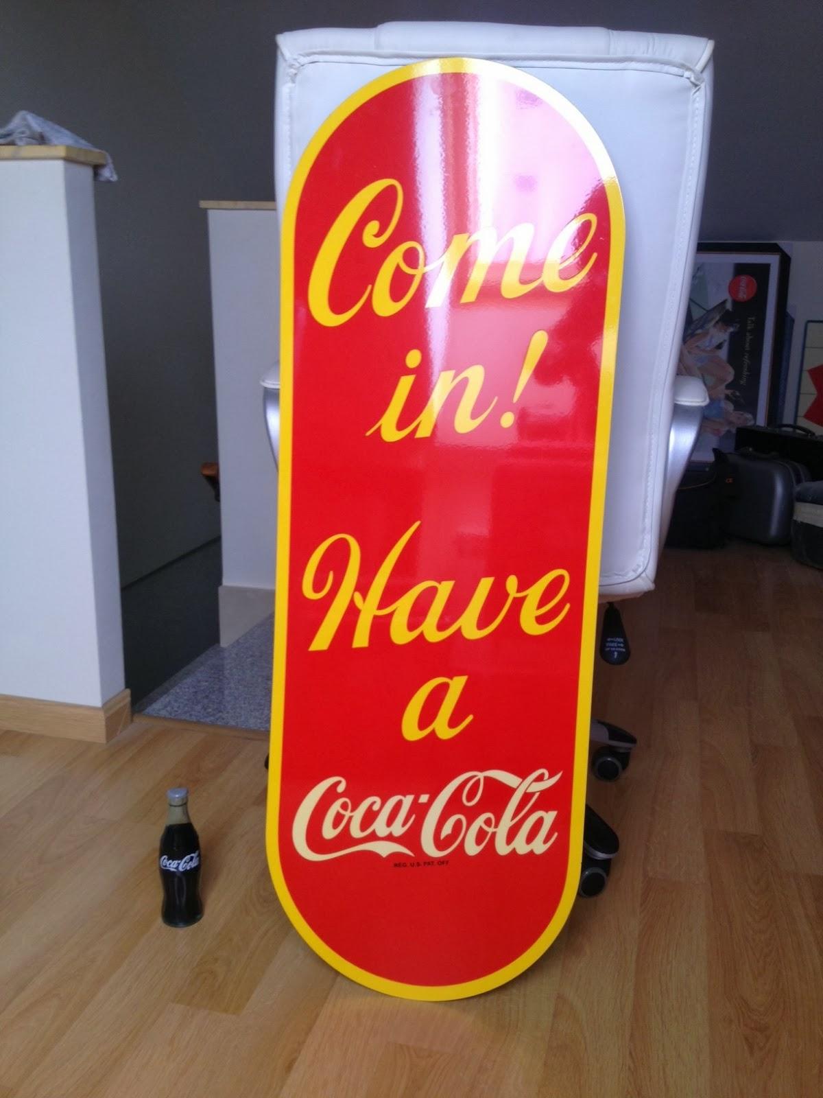 Decoracion bares coca cola chapa coca cola cartel - Chapa coca cola pared ...