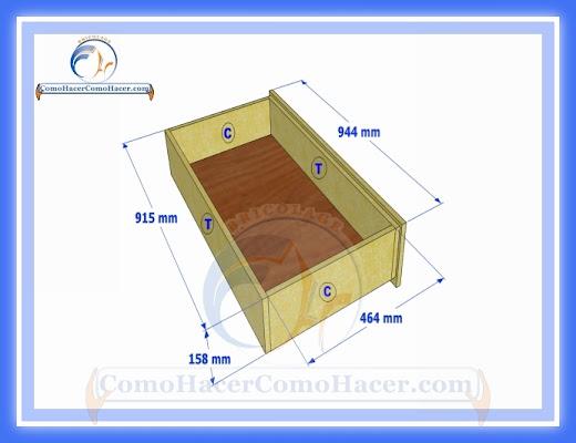 C mo hacer una cama medidas plano gu a construcci n web for Cuales son las medidas de las camas