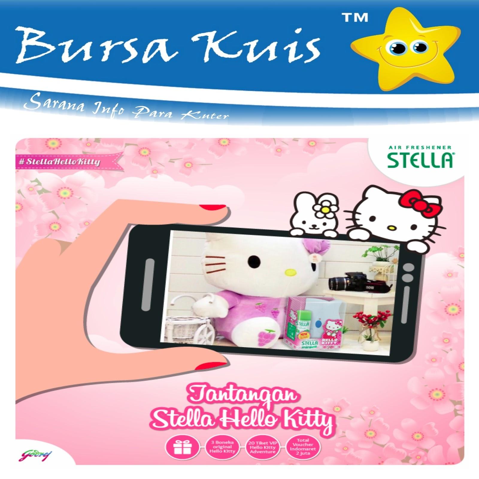 Kuis Tantangan Stella Hello Kitty Berhadiah Voucher Belanja Indomart Kali Ini Ada Dari Air Freshener Yaitu Stellahellokitty Indomaret Senilai 2 Juta Rupiah