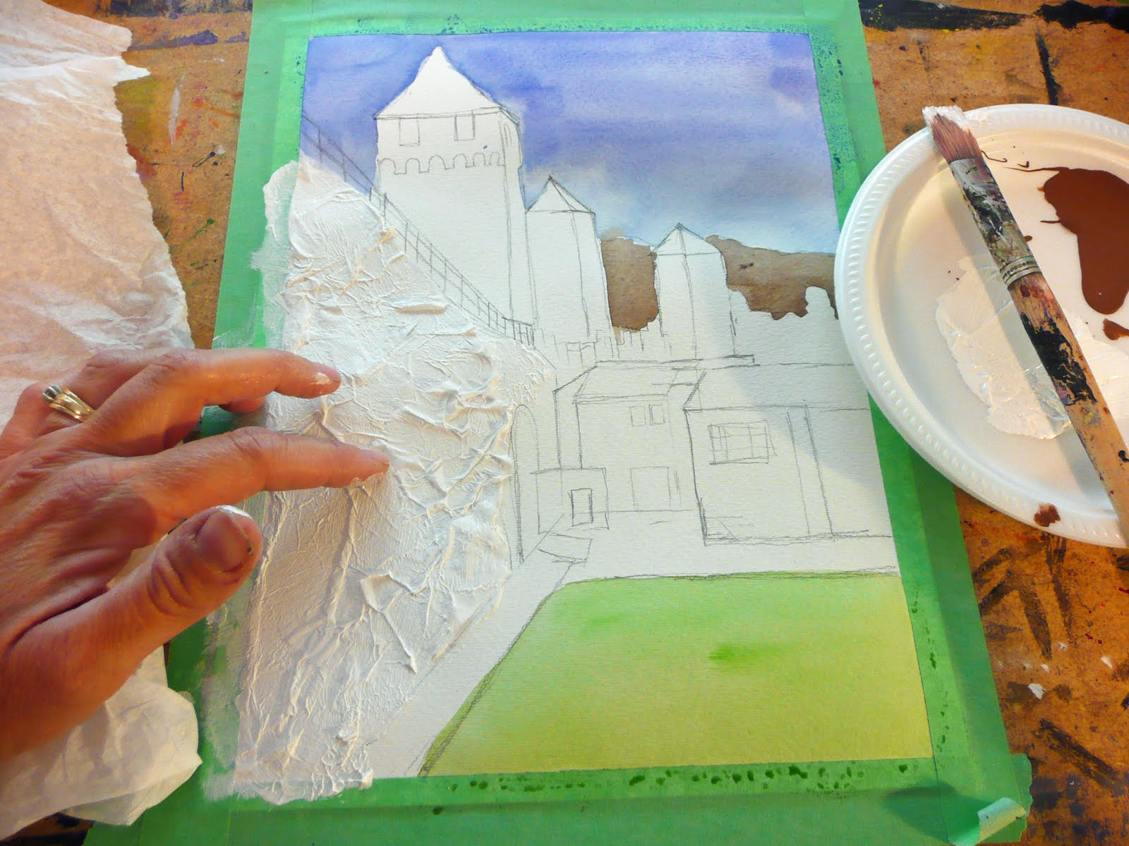 Texture Painting With Tissue Paper Tissue Paper Texture Using The