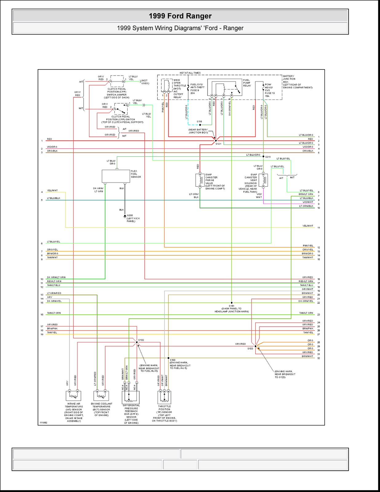 1999 Ford Ranger System Wiring Diagrams 4 Images Engine