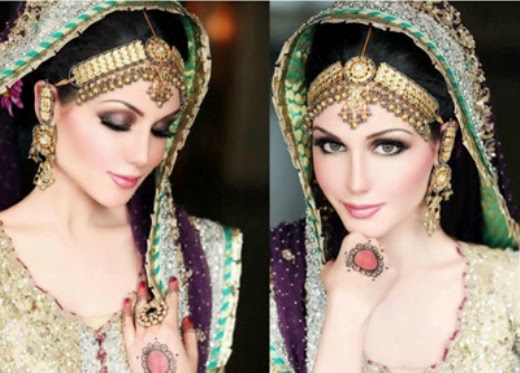 Mehndi Bridal With Matha Patti : Exclusive designs and fashion of matha patti for brides chal abay