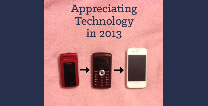 Appreciating Technology in 2013, old to new phones