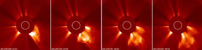 Llamarada solar clase X1.1, arededor de las manchas solares 1515, 06 de Julio 2012