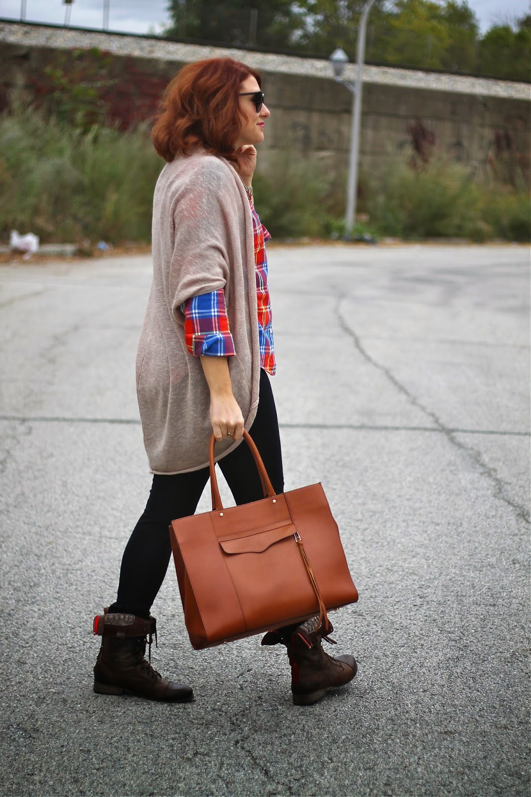 old , navy, plaid
