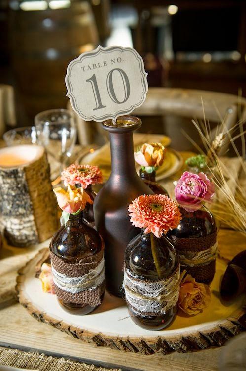 27 centros de mesa para bodas consigue una boda de cuento for Decoracion de bodas sencillas y economicas en casa