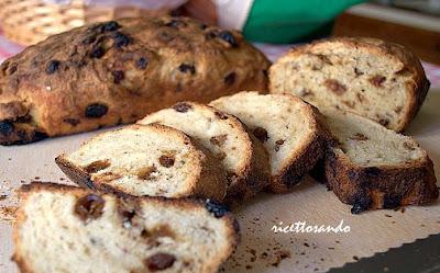 Pane all'uvetta o pan tramvai  ricetta dolce lombarda del fino 1800 dolce simbolo del territorio brianzolo all'Expo 2015