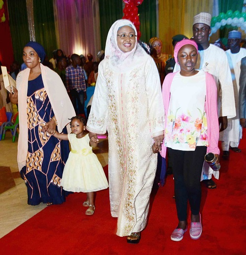 aisha buhari children party aso rock