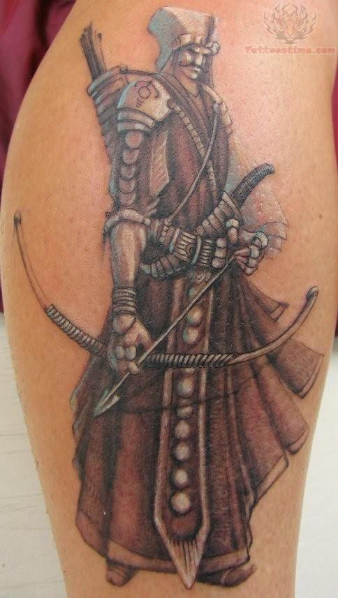 Aztec Warrior Tattoo