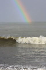 Winter storm rainbow