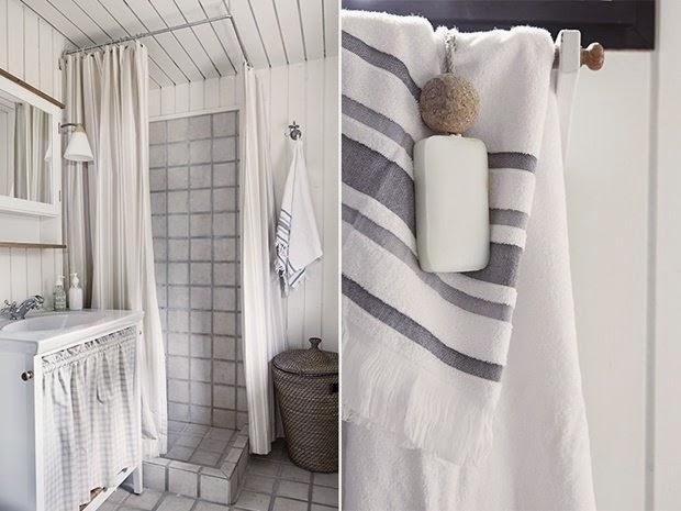 baño blanco-negro
