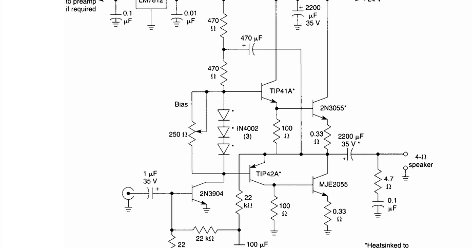 10 w audio amplifier circuit