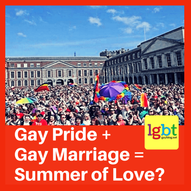 Will this summer be the summer of love? A picture of the crowd gathered in Dublin, Ireland on May 22 , 2015 waiting to hear news about the gay marriage referendum.