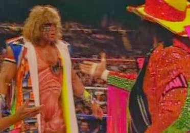 WWF / WWE - Summerslam 1992: Ultimate Warrior challenged Macho Man Randy Savage for the world title