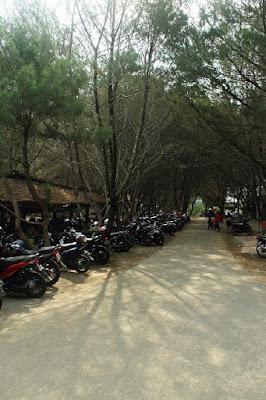 Parkir Destinasi Wisata Pantai Eksotis Gua Cemara di Bantul