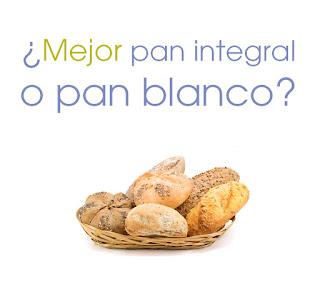 Para la dieta mejor pan blanco o integral