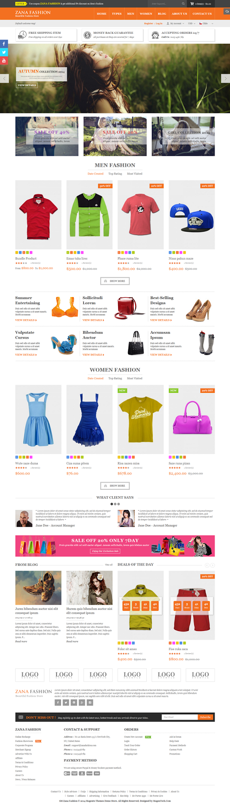 Best Responsive Magento Fashion Theme