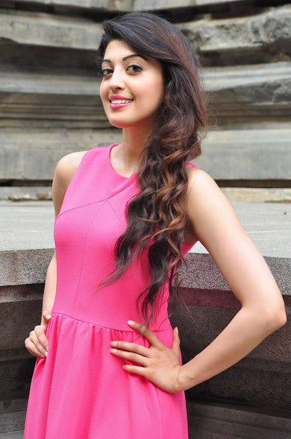 Actress Pranitha Subhash Latest Stills in Pink Skirt