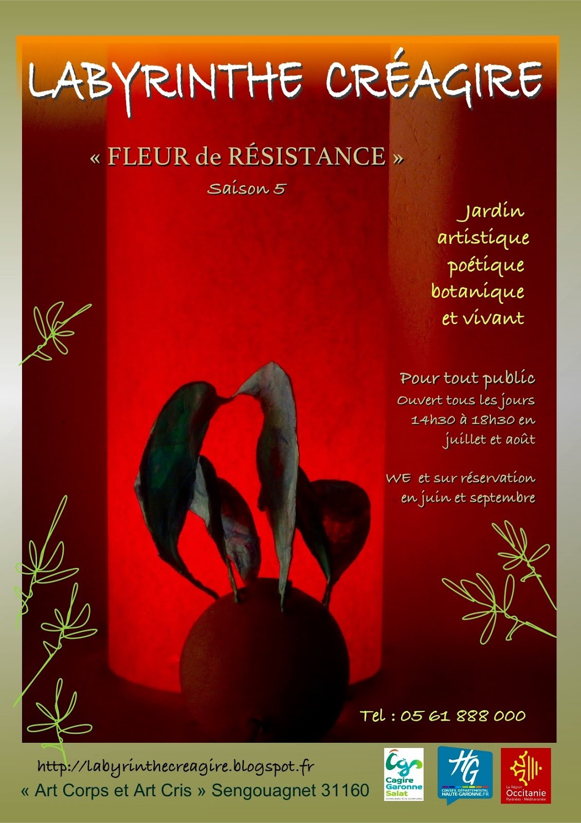 Affiche Fleur de résistance