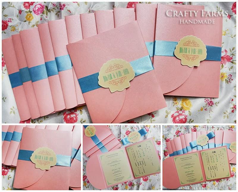 Wedding Card Malaysia Crafty Farms Handmade Pastel Colour Beach