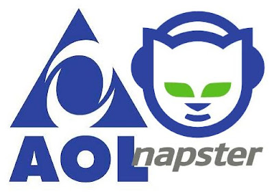 AOL and Napster - Top internet websites