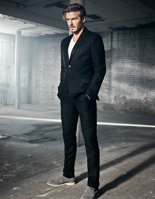 a sharp linen blazer by modern essentials selected by david beckham at H&M