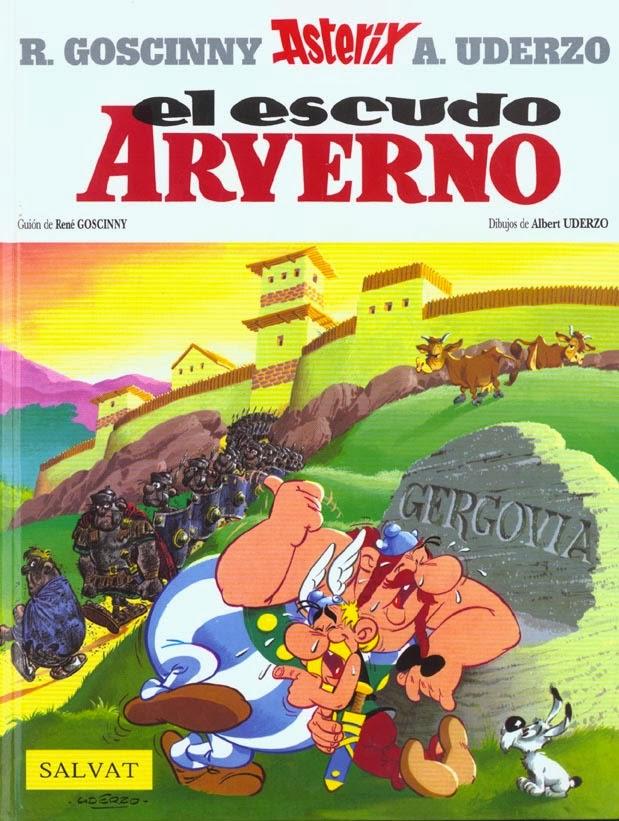 Astérix. El Escudo Arverno,Albert Uderzo, René Goscinny,Salvat  tienda de comics en México distrito federal, venta de comics en México df