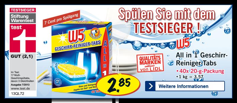 Spülmaschinentabs test