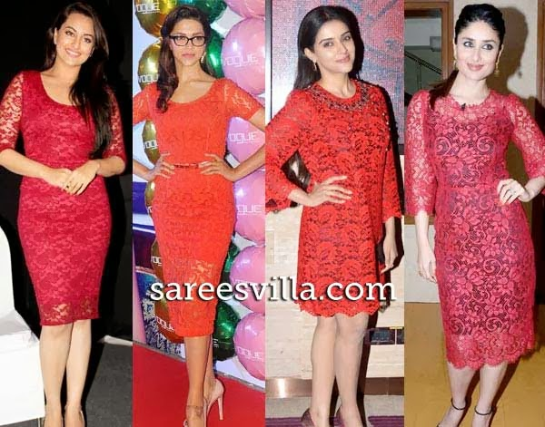Kareena Kapoor, Sonakshi, Asin and Deepika in similar outfit