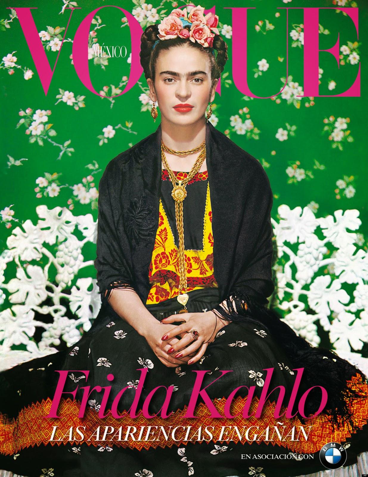 Falsas portadas para la historia frida kahlo para vogue for Cuartos decorados de frida kahlo