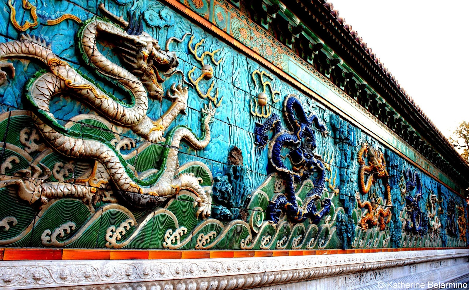 Nine Dragon Screen Treasure Gallery Forbidden City Beijing China