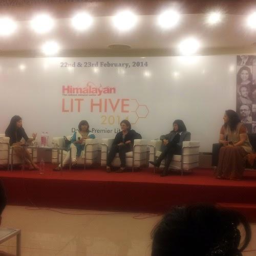 Adite Banerjie, Aastha Atray, Reet Singh, Jyoti Singh and Nikita Singh at Lit Hive 2014