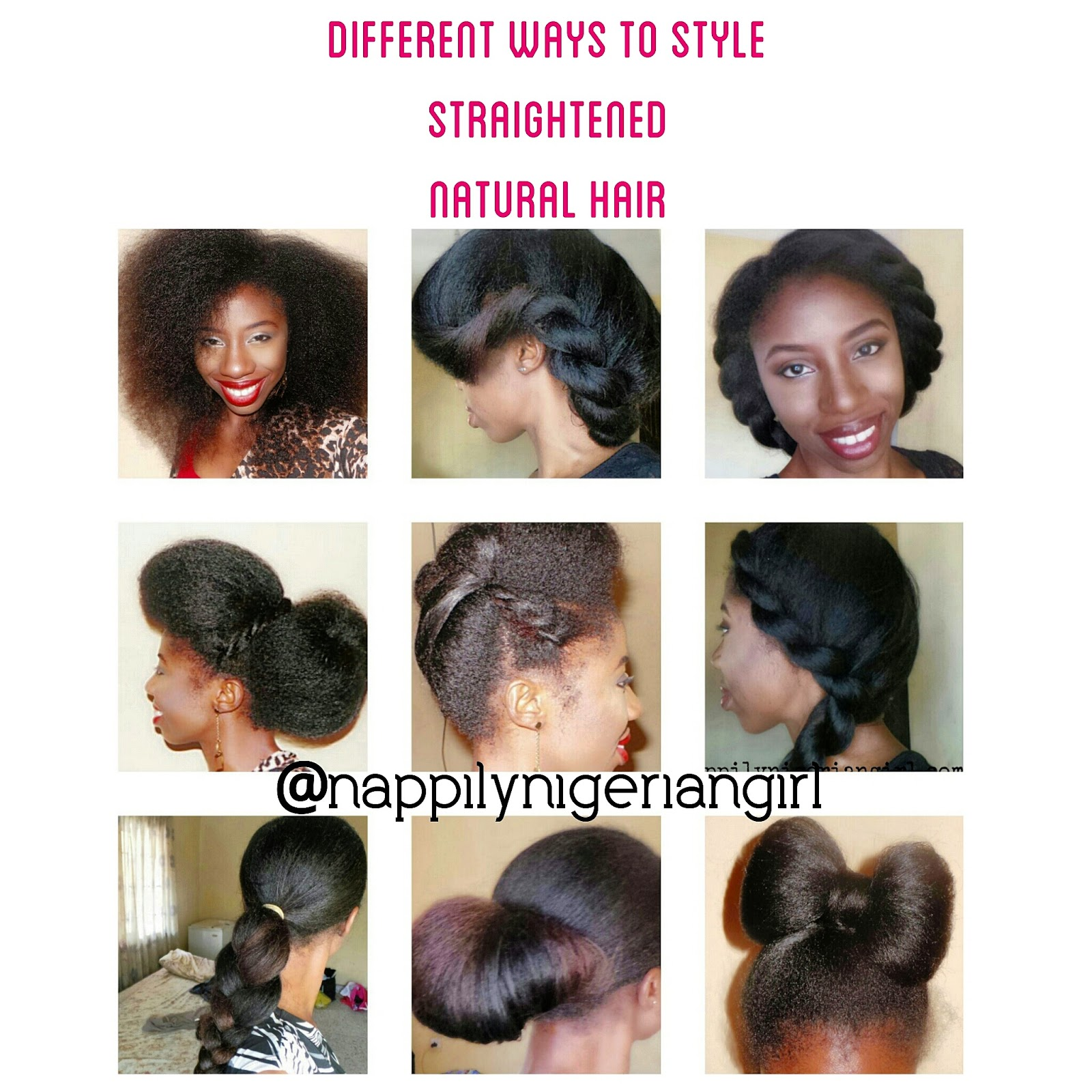 PROTECTIVE STYLES FOR STRAIGHTENED NATURAL HAIR Nappilynigeriangirl