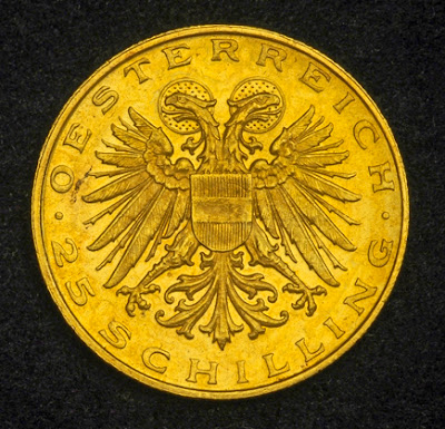 Austrian gold coins investment 25 Schilling
