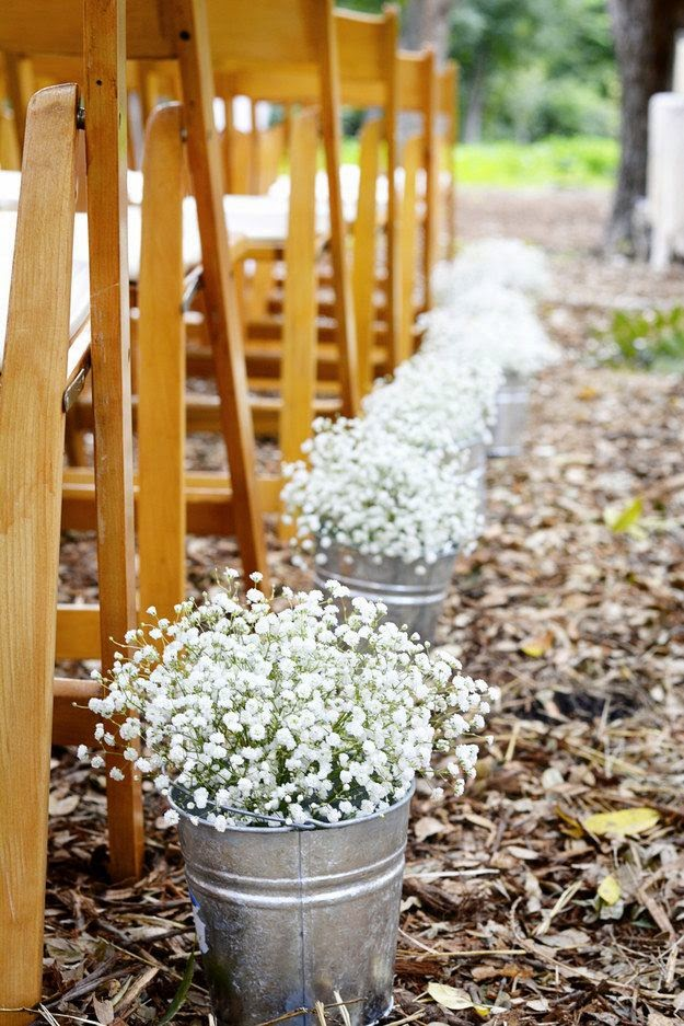 baby's breath aisle decorations