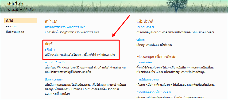 how to change password in windows live mail 2011