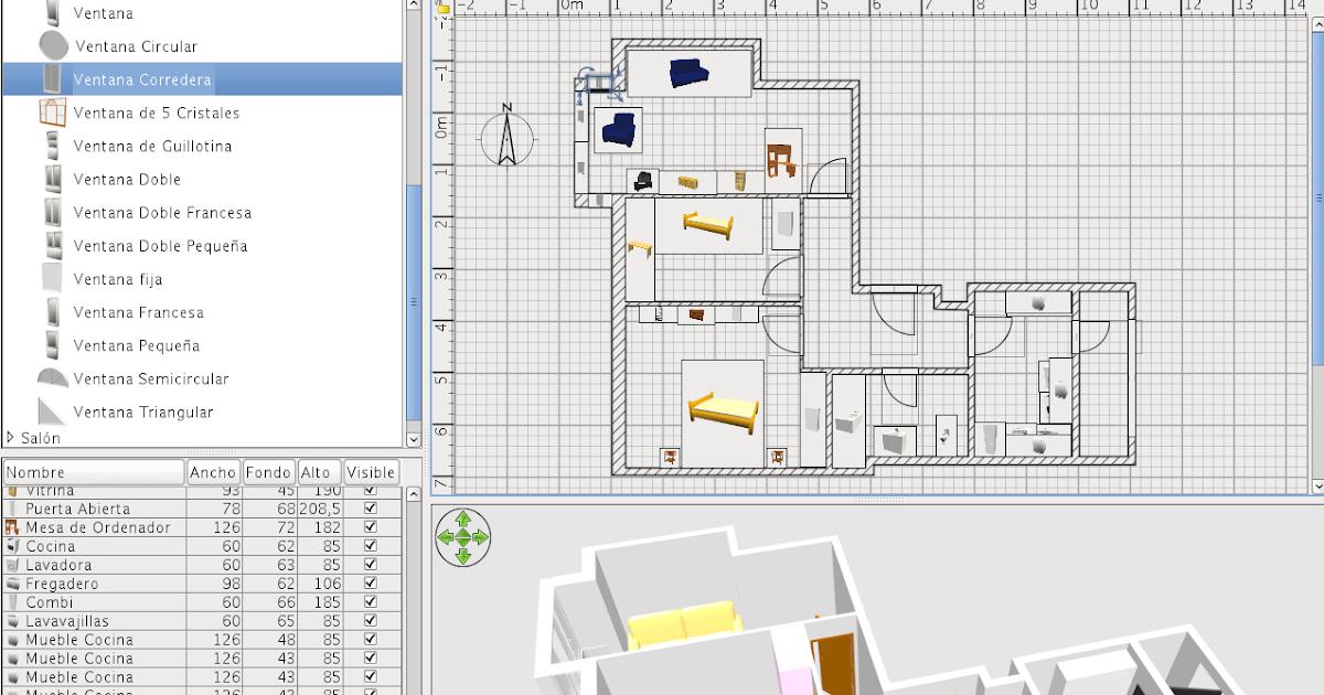 Dise O Y Cad En Linux Sweet Home 3d Dise O De Interiores