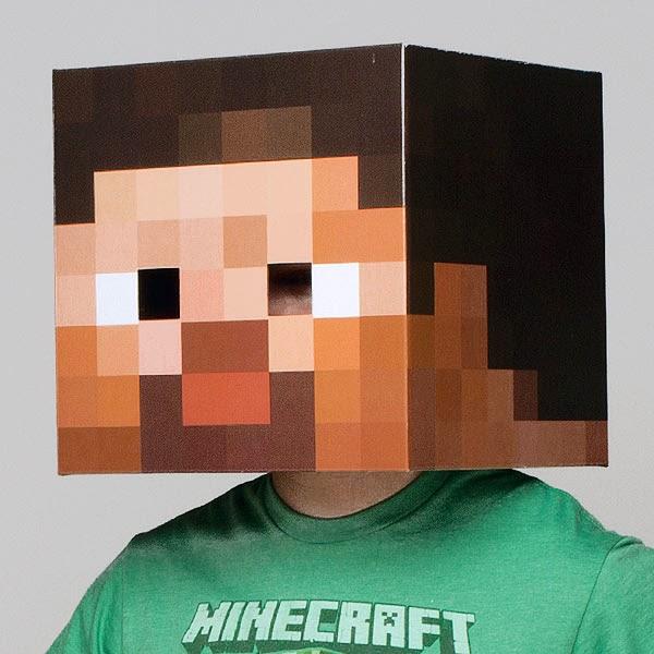 Máscara Minecraft Steve