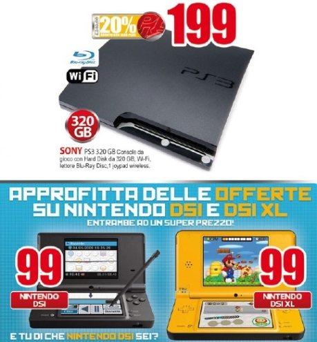 Sony Playstation 3 e Nitendo dsi scontati sul volantino Eldo