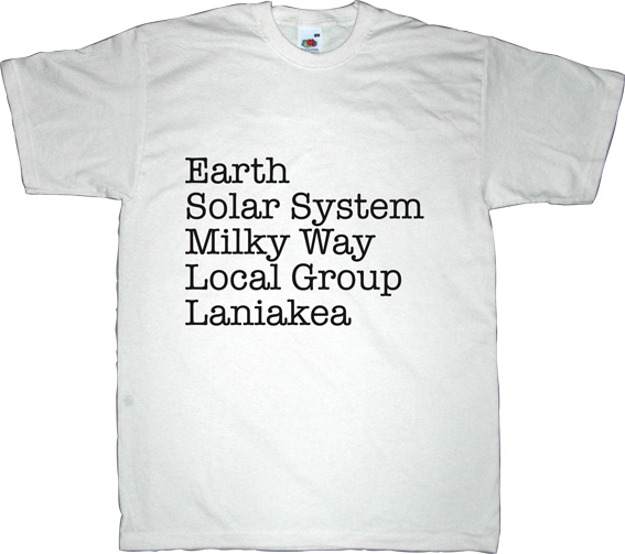 science universe laniakea t-shirt ephemeral-t-shirts