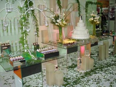 mesa para bolo de casamento